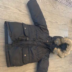 Boys 4t Gap hooded fur Coat! Perfect condition!